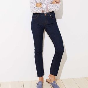 NWT LOFT Straight Leg Jean in Dark Rinse